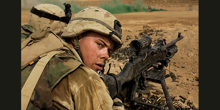 A US Army infantry soldier in Iraq, 2003. Credit: Stacy L. Pearsall