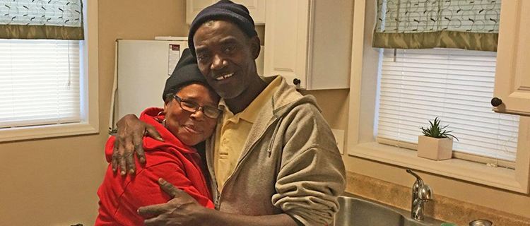 Jamie Jones and James Wallace, an Army veteran, move into an apartment in Winston-Salem, N.C.