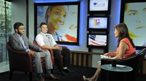 Juju Chang and guests on set of American Graduate Day 2016, at WNET, New York, NY