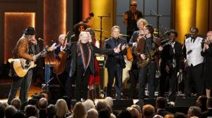 Willie Nelson receives a standing ovation at the conclusion of the 2015 Gershwin Prize for Popular Song Concert. Credit: Shawn Miller