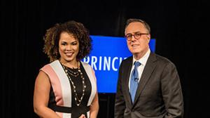 Amy Holmes and Michael Gerson. Photo courtesy of WETA