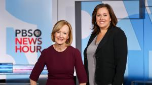 PBS NewsHour anchor Judy Woodruff, left, and Executive Producer Sara Just. Photo courtesy of PBS NewsHour