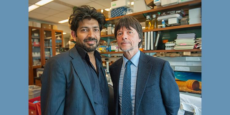 Siddhartha Mukherjee, M.D. and Ken Burns, Executive Producers of KEN BURNS PRESENTS THE GENE: AN INTIMATE HISTORY Credit: ©Stephanie Berger.