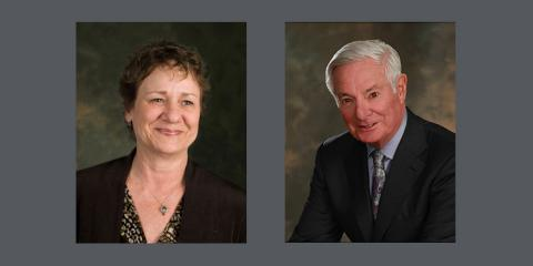 Vice Chair Patty Cahill and Chair Bruce Ramer, CPB Board of Directors