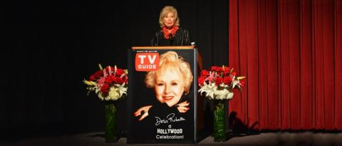 Pat Harrison at Doris Roberts tribute