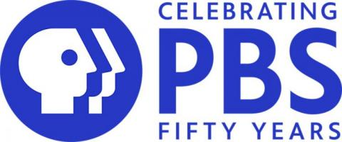 PBS 50 year anniversary logo