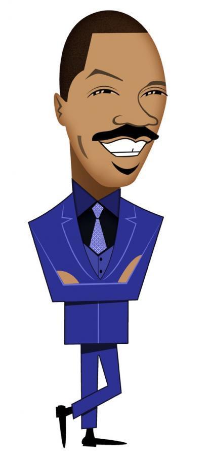 Caricature of comedian Eddie Murphy