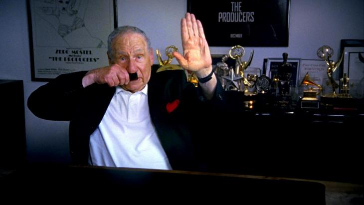 Mel Brooks is interviewed in The Last Laugh. Credit: Ferne Pearlstein