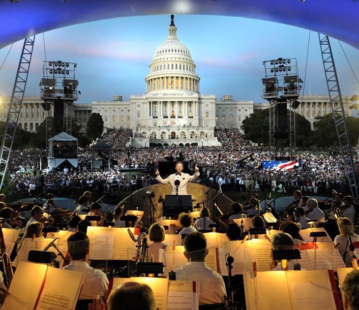 Jack Everly leads the National Symphony Orchestra. Photo courtesy of Capital Concerts
