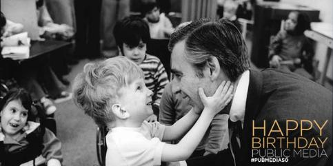 Fred Rogers. public broadcasting