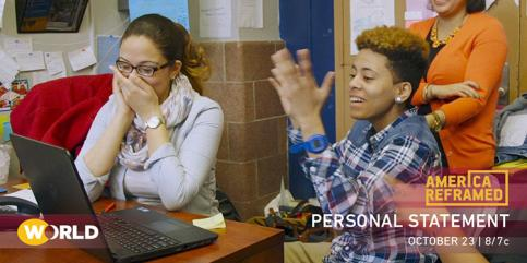 Young people in a classroom, part of PBS documentary Personal Statement airing Oct. 23, 2018