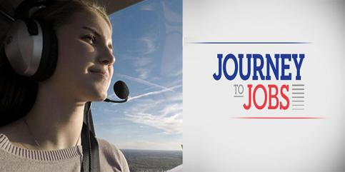 student in pilot training, show logo