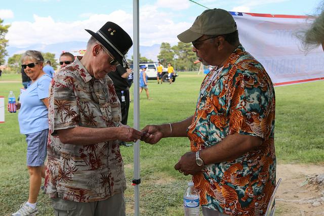 Veterans honored at Craig Ranch Park by Vegas PBS volunteers