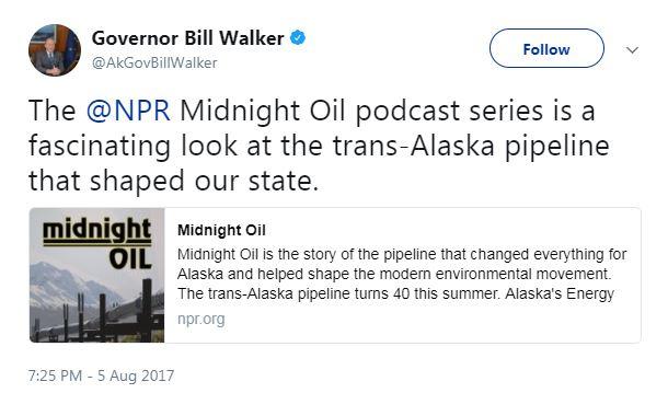 Gov. Bill Walker tweet