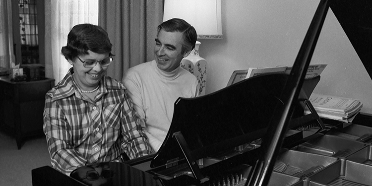 Joanne and Fred Rogers at Piano