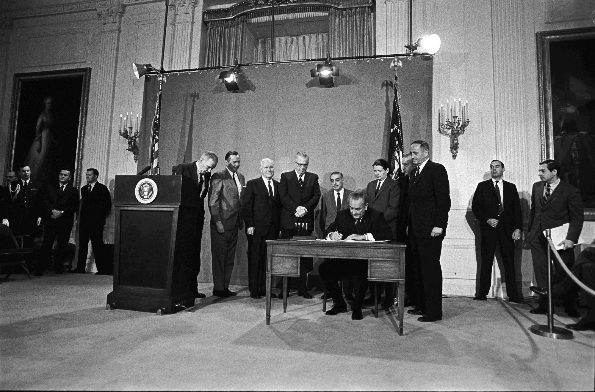 Johnson Signing the Public Broadcasting Act of 1967