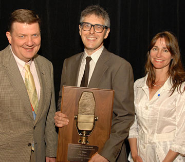 Vincent Curren, Ira Glass and Lori Gilbert at the presentation of CPB's Edward R. Murrow Award on Wednesday, July 8, 2009